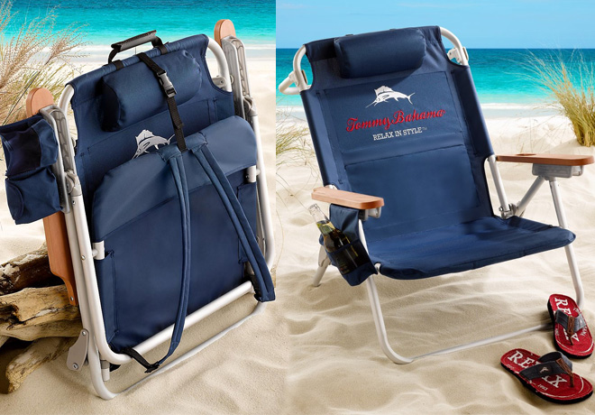 tommy bahama foldable backpack chair