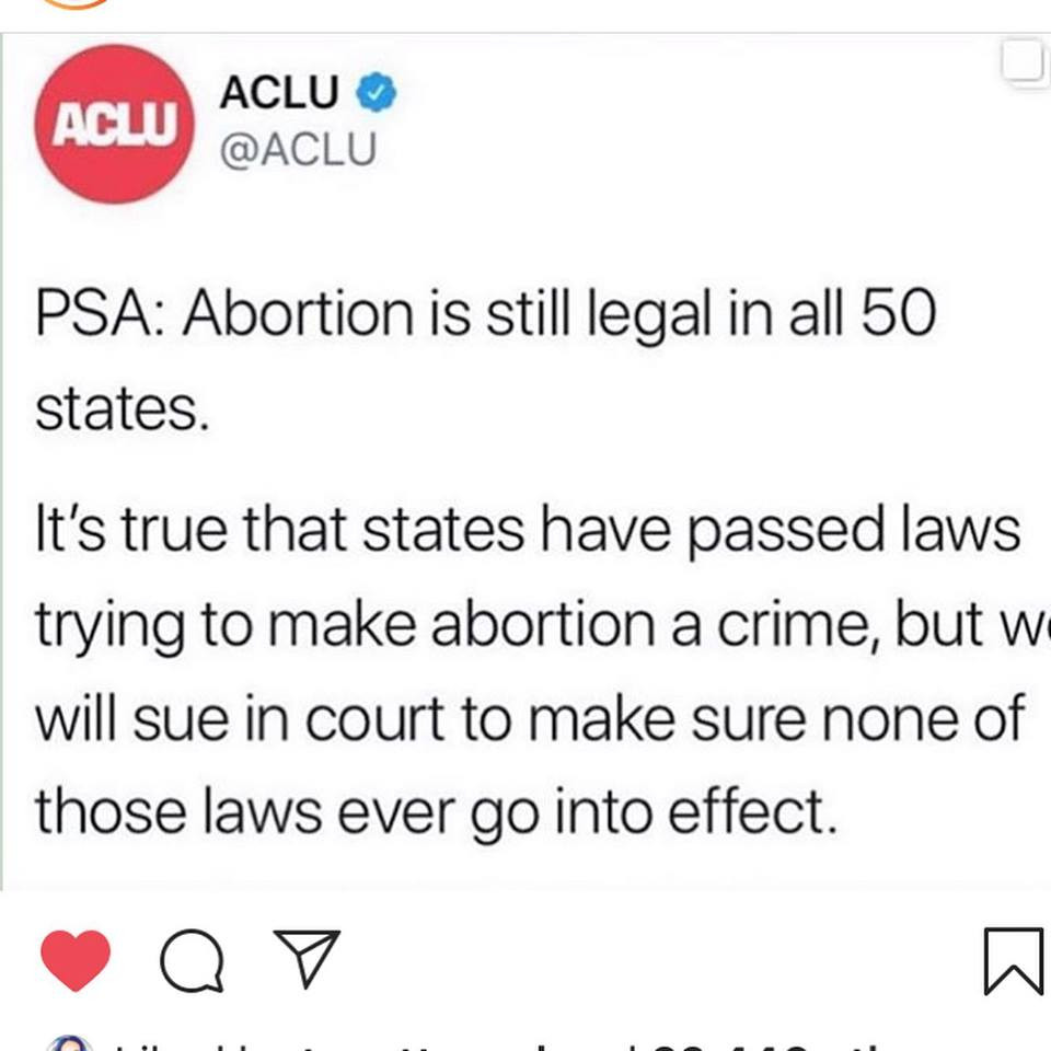 aclu fights against abortion ban