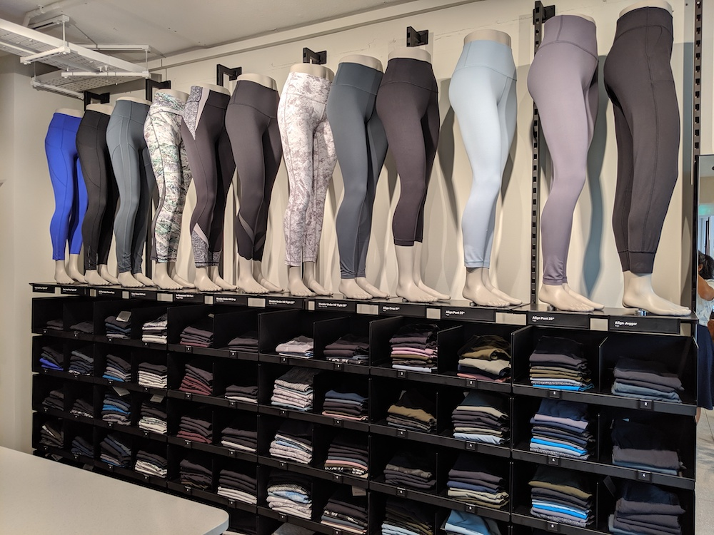 lululemon berlin germany store photos leggings wall