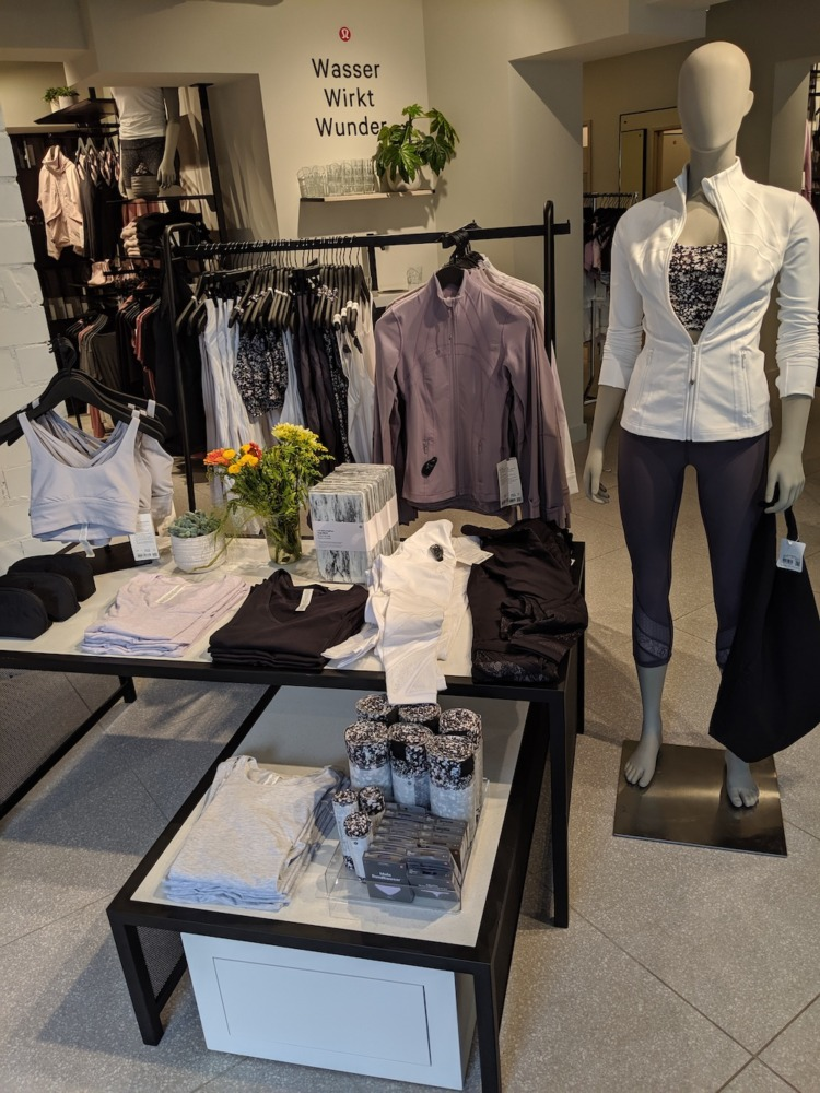 lululemon berlin germany store photos womens activewear front store display
