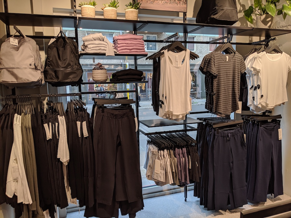 lululemon berlin germany store photos womens activewear wall
