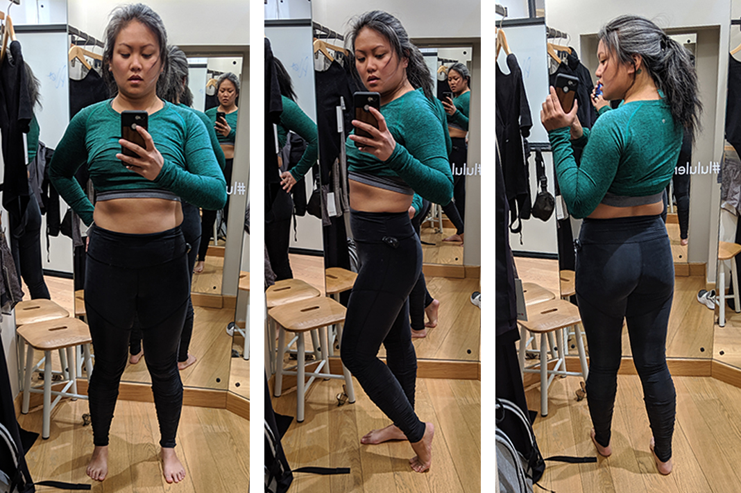 lululemon into something good try on fitting room lululemon schimiggy reviews