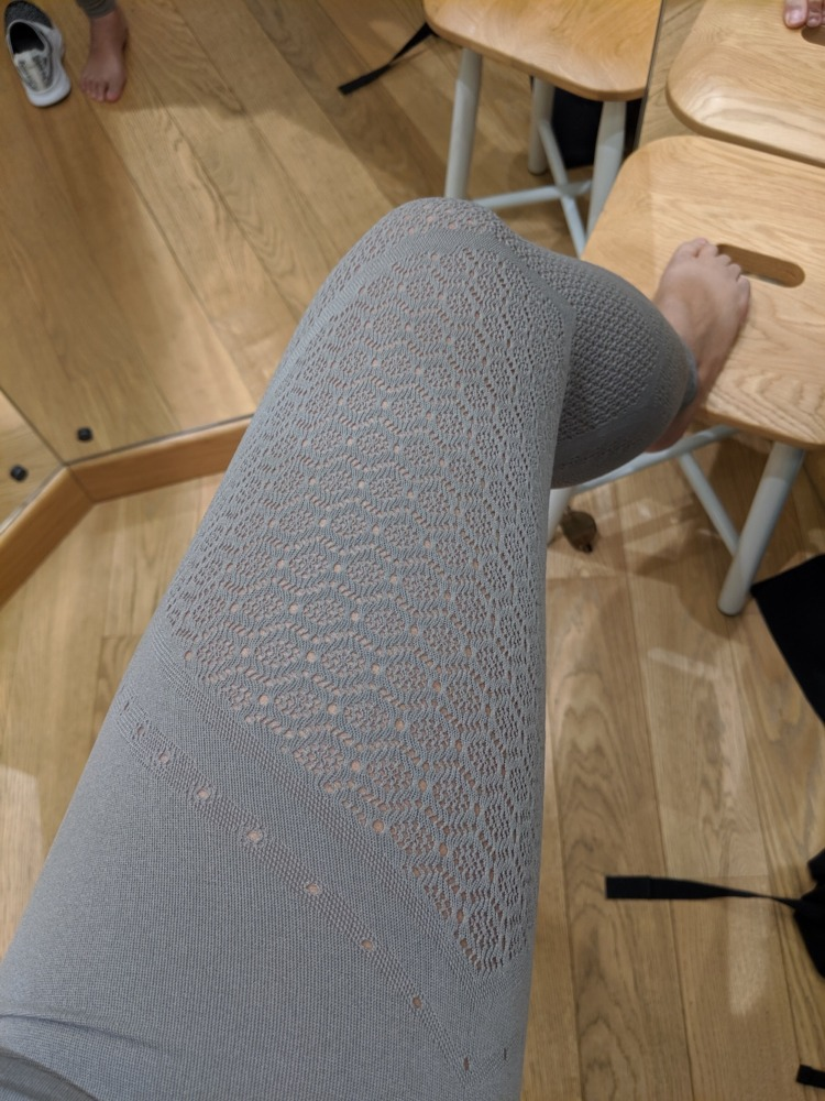 lululemon reveal tight detail lace laser cut