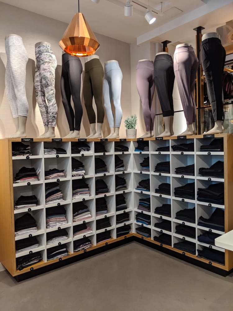 lululemon store in zürich switzerland pants display womens