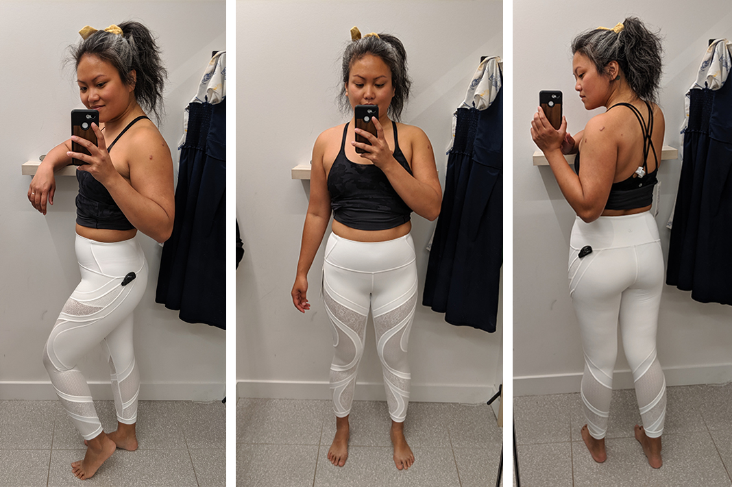 lululemon try on wunder under tight lace white schimiggy reviews