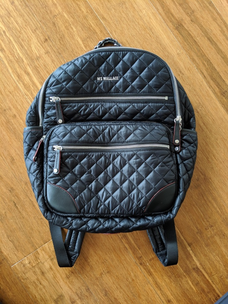 mz wallace backpack review crosby travel bag front