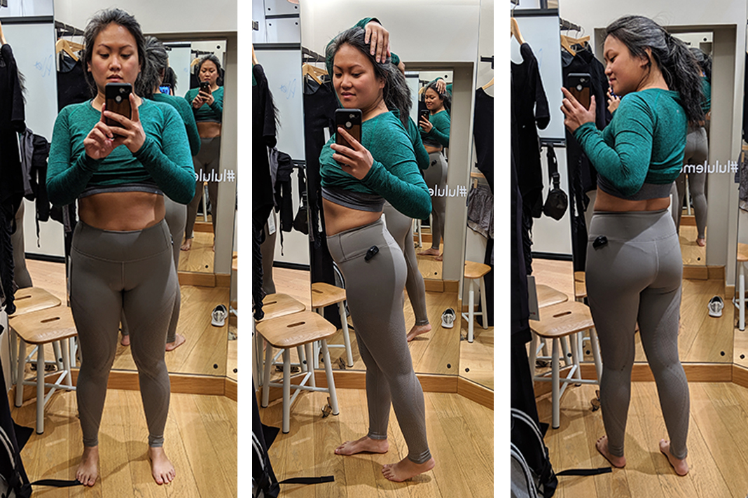 schimiggy reviews lululemon fitting room try on reveal tight leggings