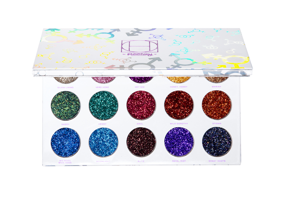 HipDot Legendary Pressed Glitter rainbow eye shadow Palette