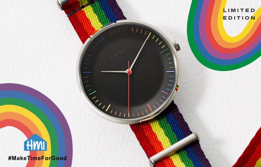 fossil rainbow watch hp hero