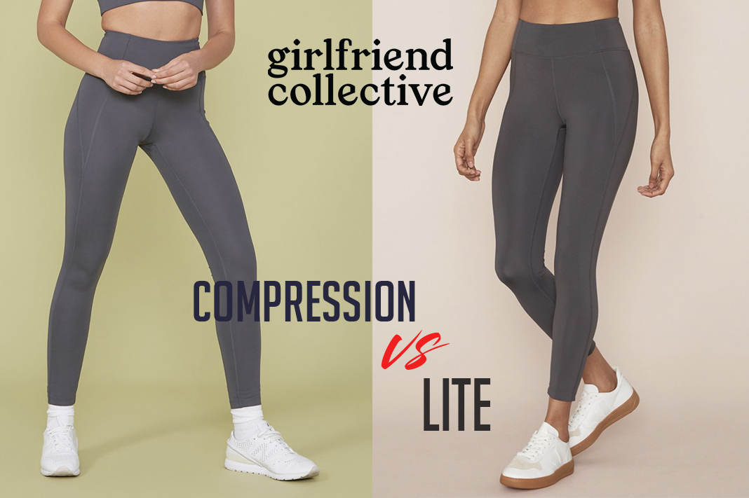 girlfriend collective what is the difference betwen compression vs lite leggings