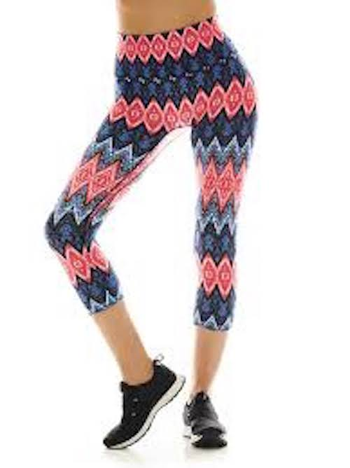 k-deer sedona crop capri leggings