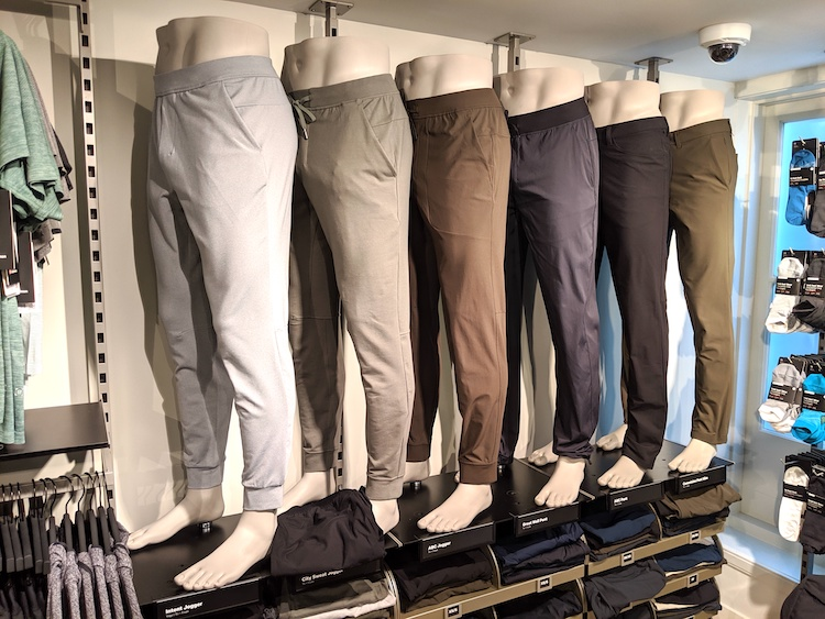 lululemon amsterdam store and product photos mens pant wall