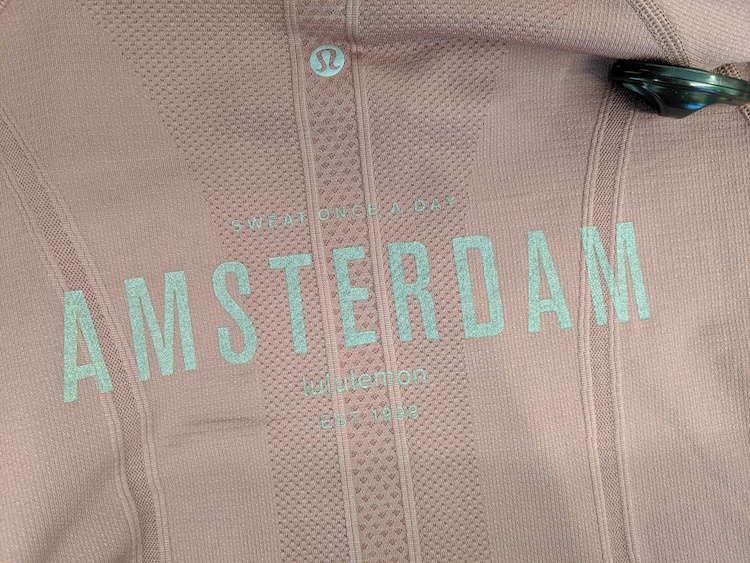 lululemon amsterdam store and product photos swiftly short sleeve logo