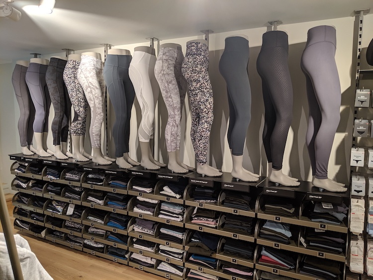 lululemon amsterdam store and product photos womens pant wall