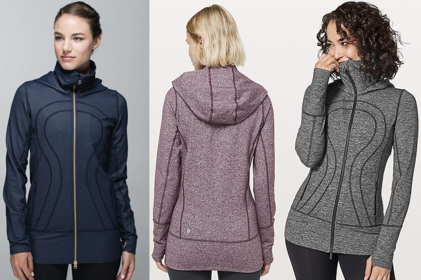 lululemon core item stride jacket hooded