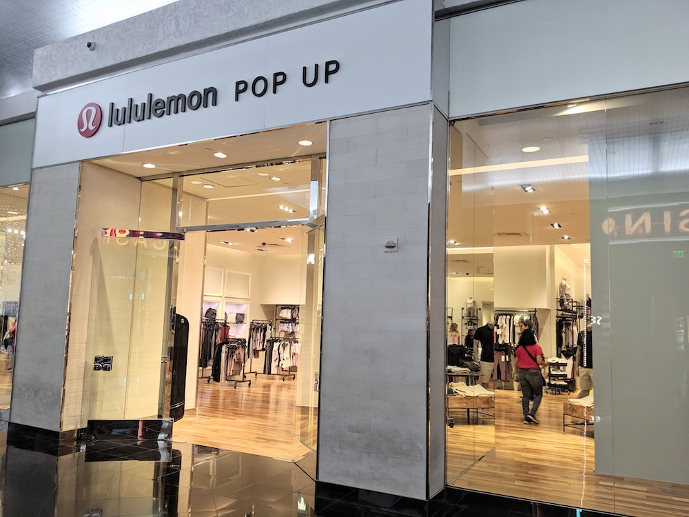 lululemon pop up shop in las vegas miracle mile