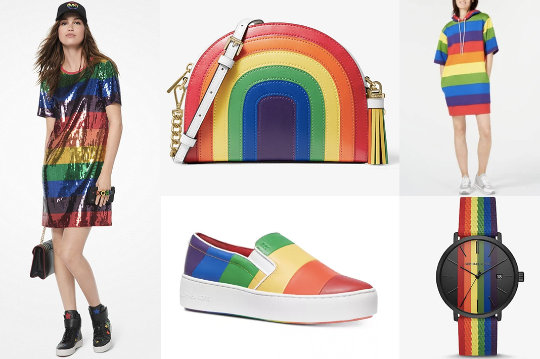 michael kors rainbow pride collection clothing and accessories