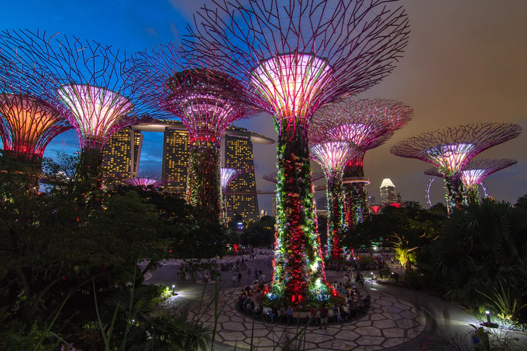 singapore gardens by the bay lightshow