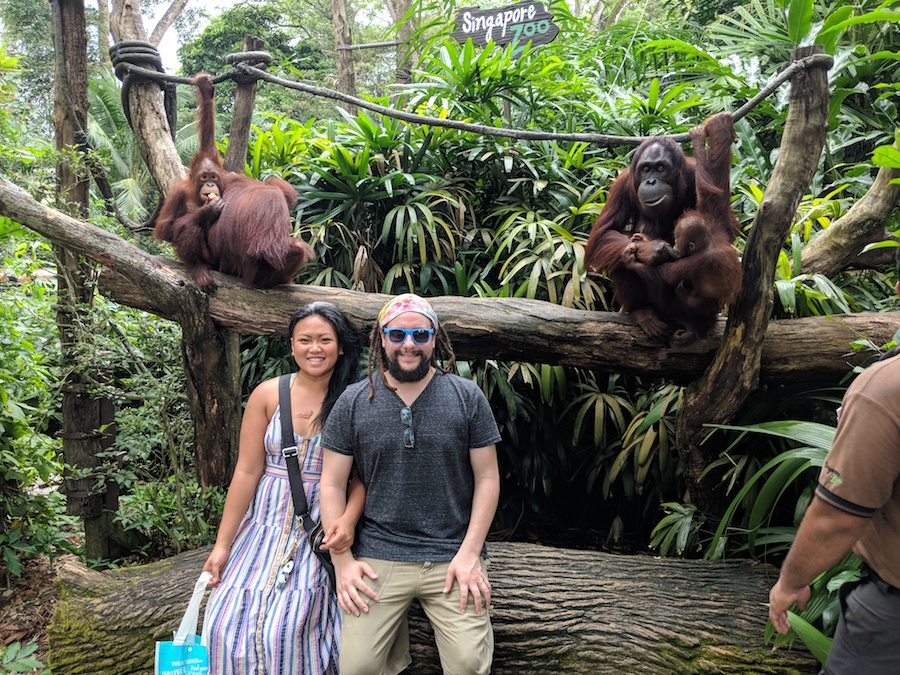 Alex and Larry at the Singapore Zoo 2017