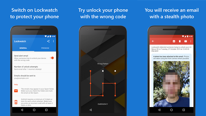 Lockwatch Thief-Catching app for cellphones