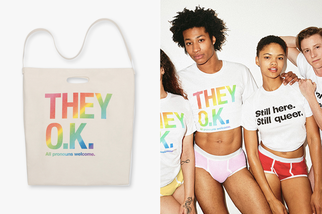 american apparel pride collection 2019 rainbow apparel for men and women