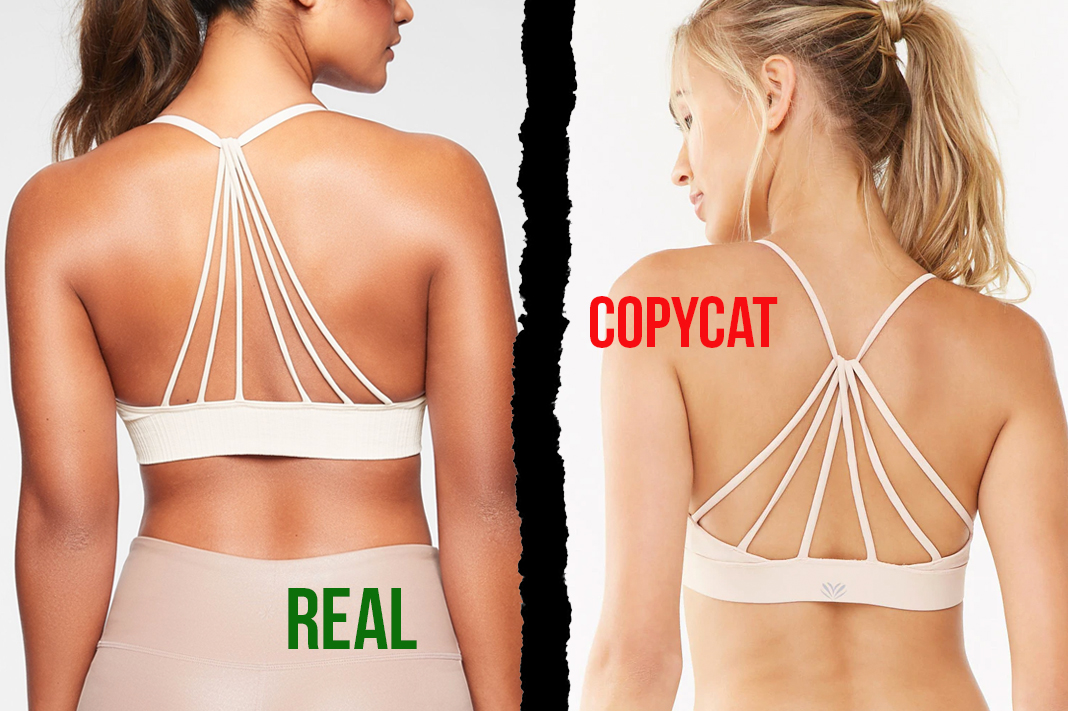 athleta vs forever21 convergence sports bra dupe copycat activewear