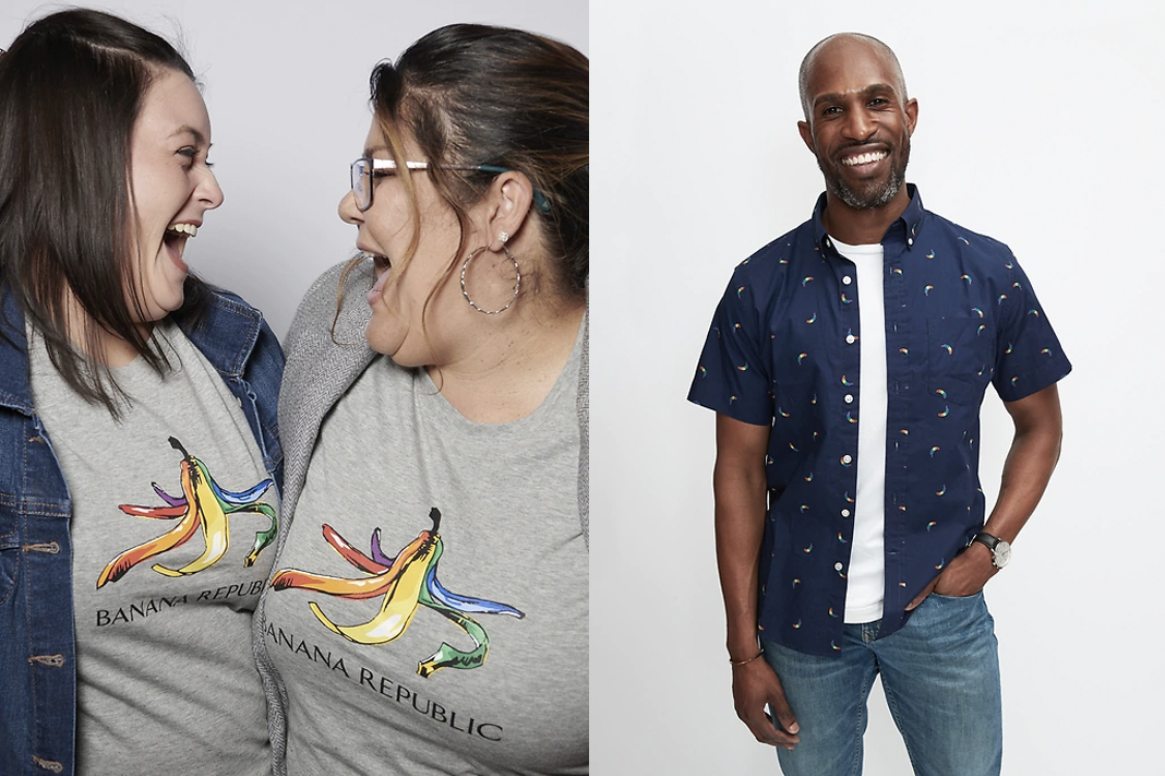banana republic pride collection 2019 rainbow bananas