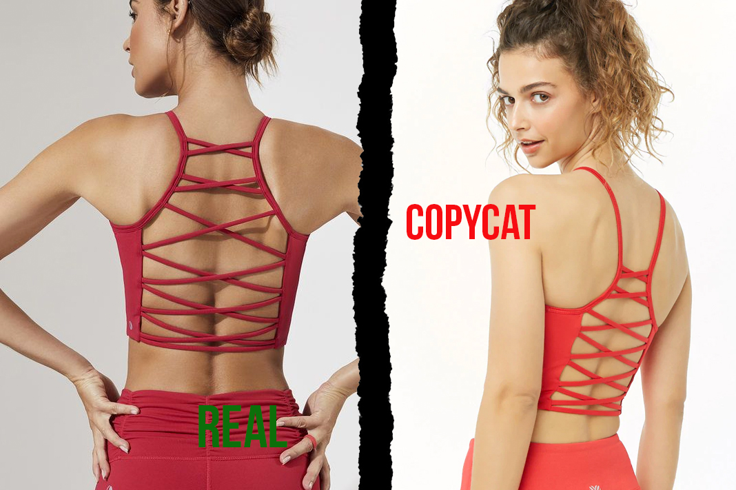 chill by will vs forever21 strappy back high neck bra dupe