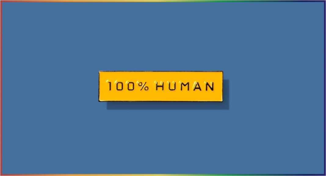everlane 100% human pin pride 2019