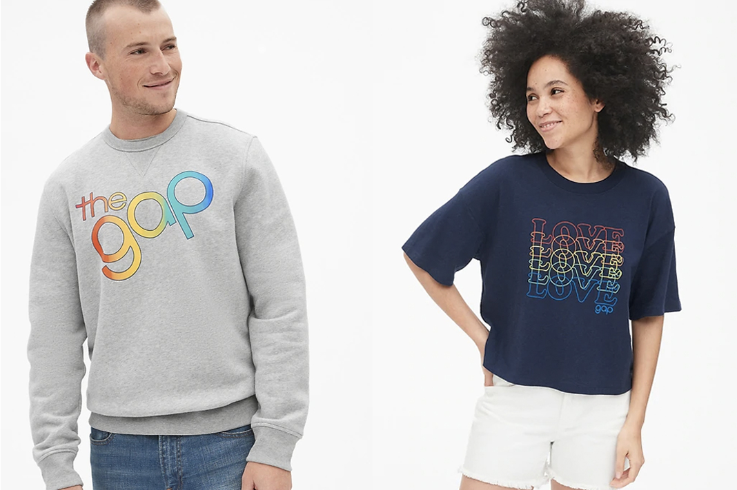 gap pride collection rainbow apparel 2019