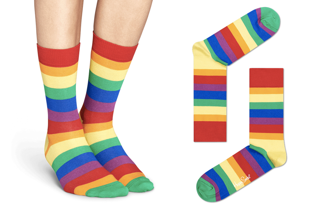 happy socks pride collection rainbow high socks