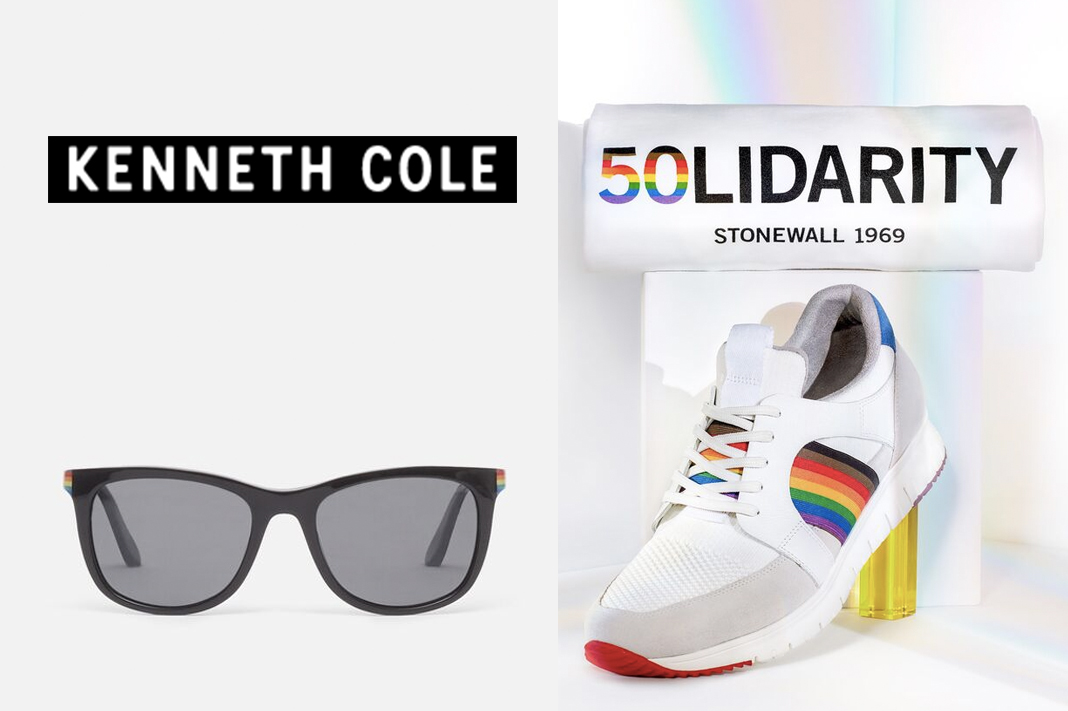 kenneth cole pride collection rainbow shoes and sunglasses