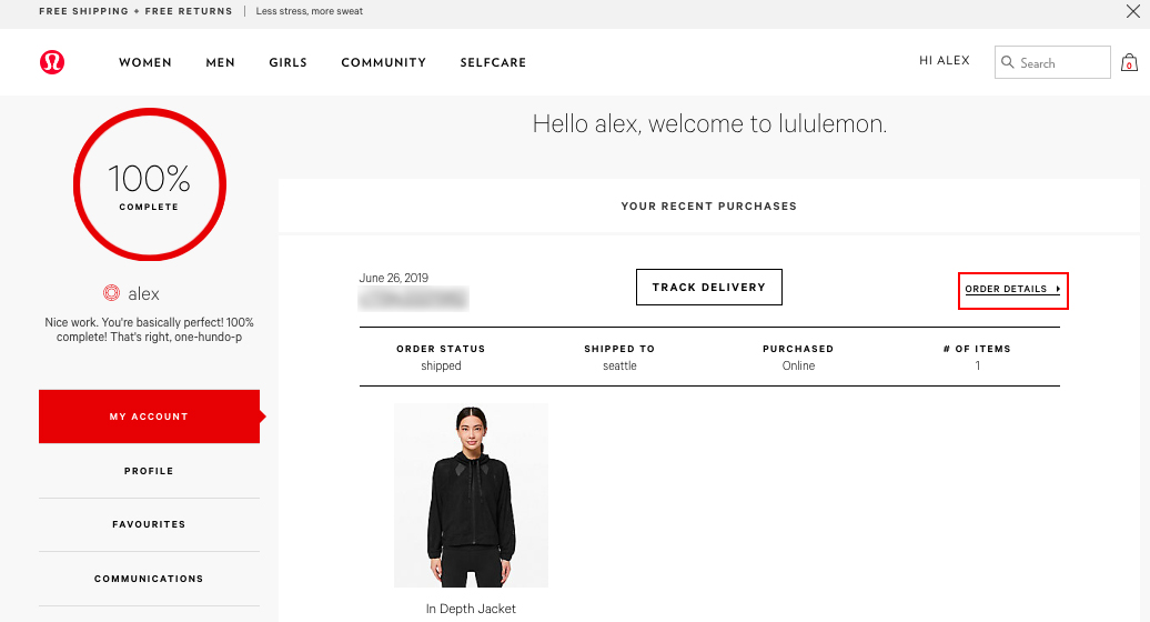 lululemon order page schimiggy reviews