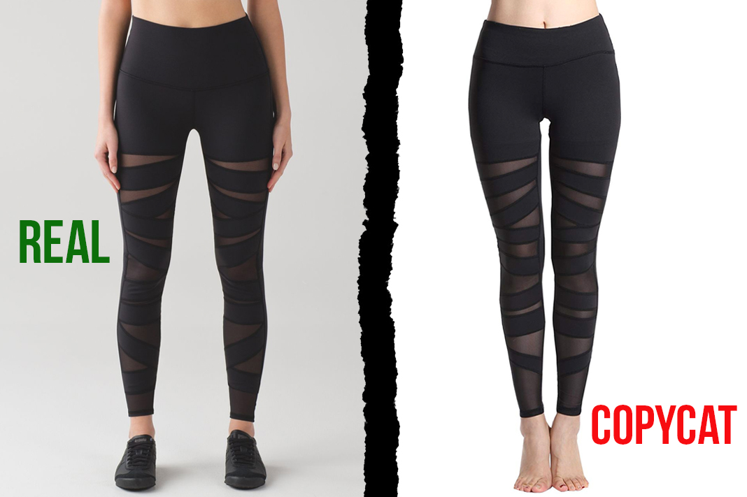 lululemon vs Lotus Instyle tech mesh dupe leggings copycat activewear