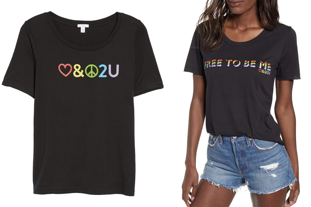nordstrom free to be me shirt pride 2019