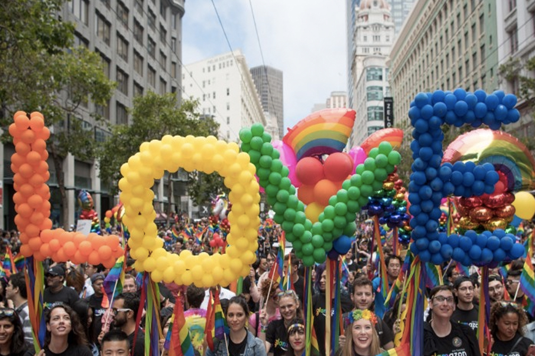 pride parade love sign balloons 2019