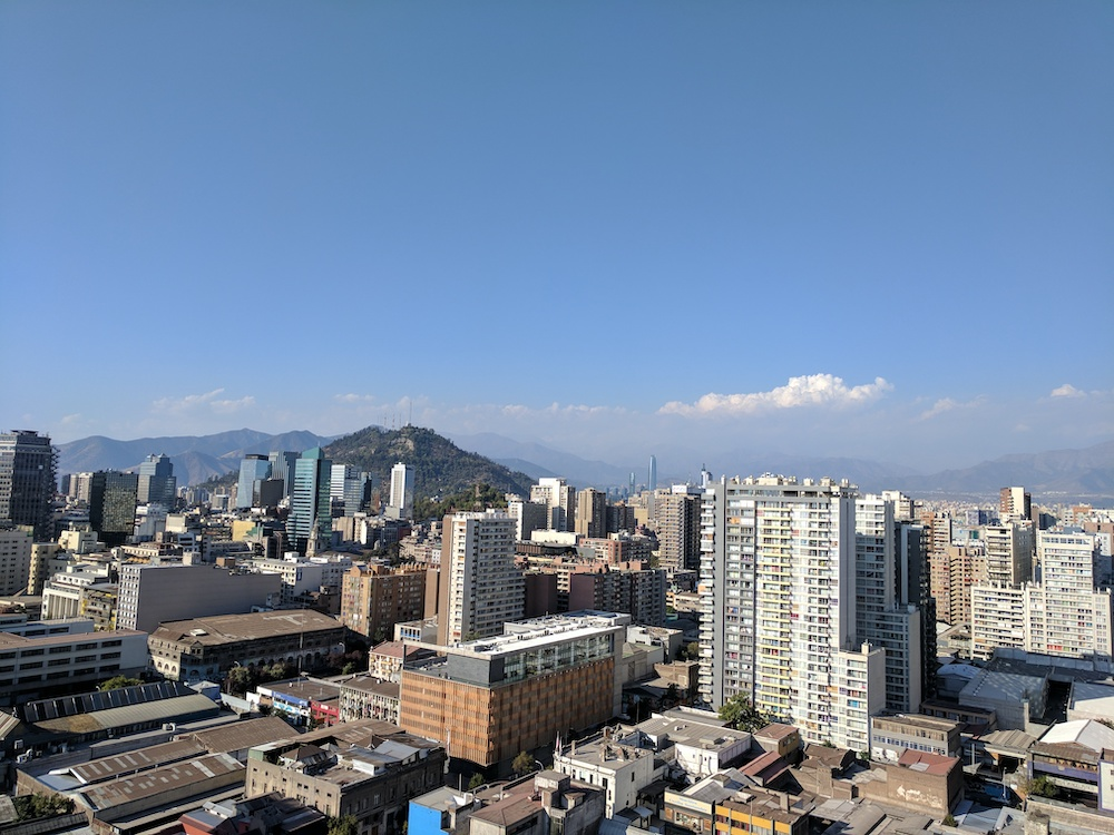 santiago chile view from above