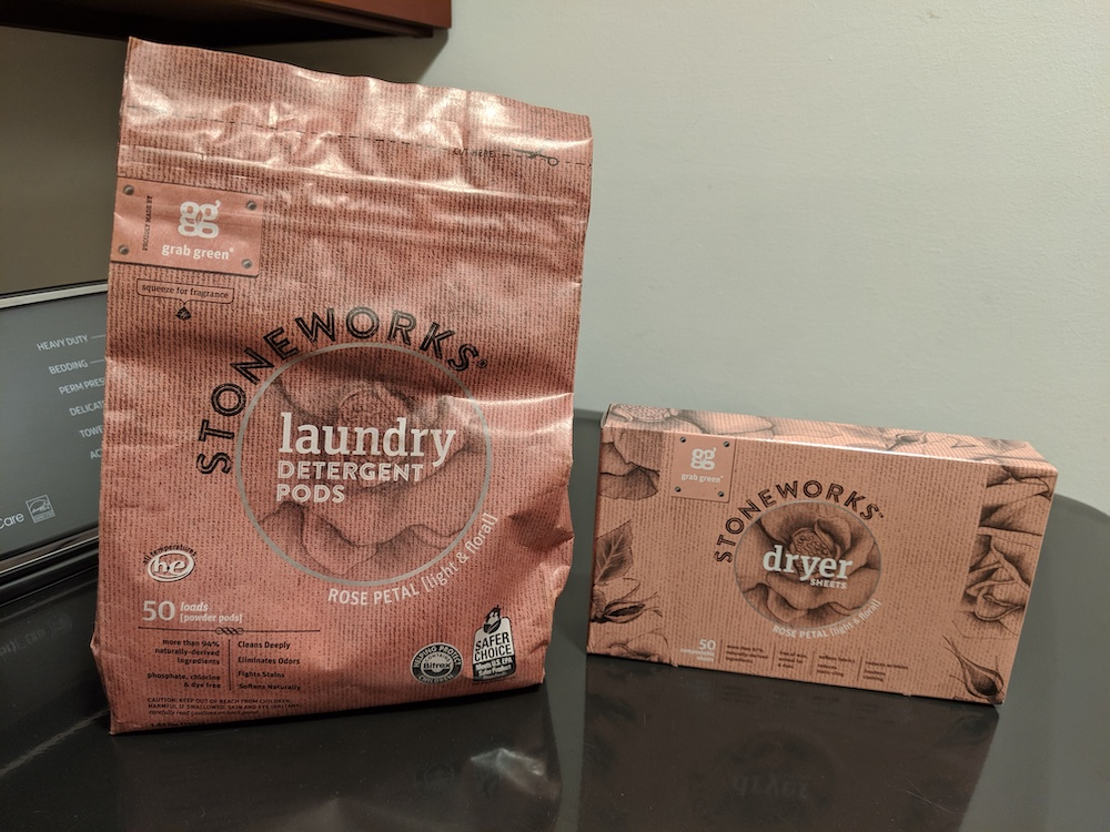 stoneworks eco-friendly and sustainable laundry detergent and dryer sheets