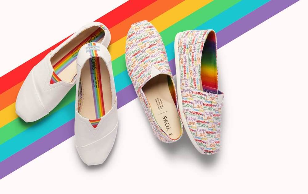tom's pride collection rainbow shoes
