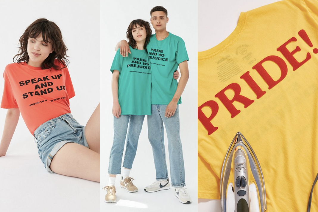 urban outfitters pride collection 2019 rainbow shirts