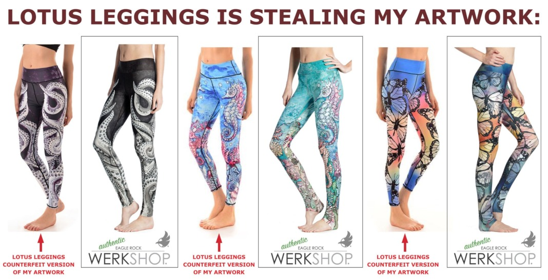 werkshop vs lotus leggings dupe counterfeit