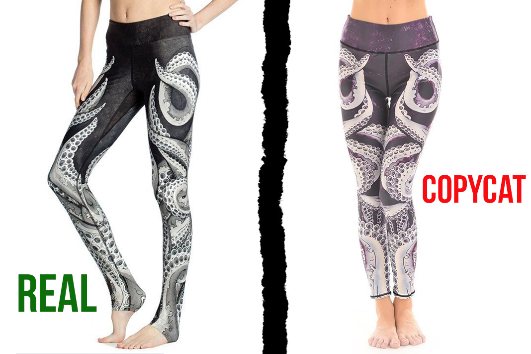 werkshop vs lotus leggings octopus tentacles counterfeit