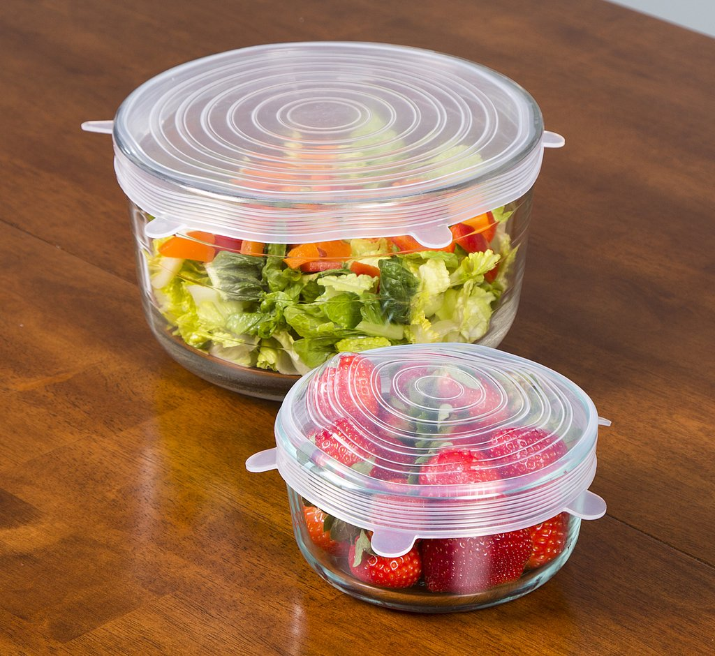 zero waste premium silicone stretch lids for food storage