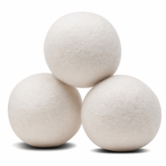 felt dryer balls from Fair Trade Winds