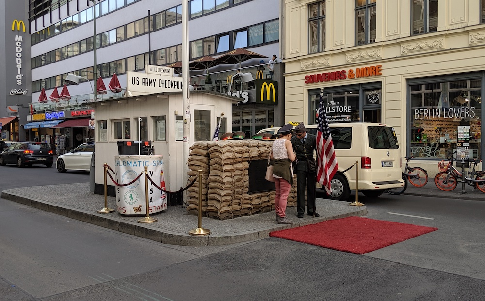 checkpoint charlie attraction in berlin germany