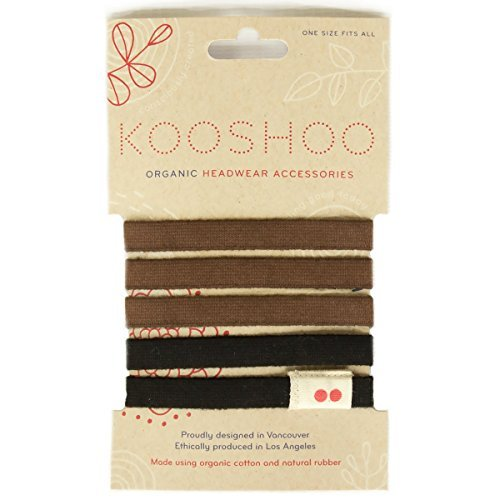 kooshoo organic biodegradable hair ties zero waste