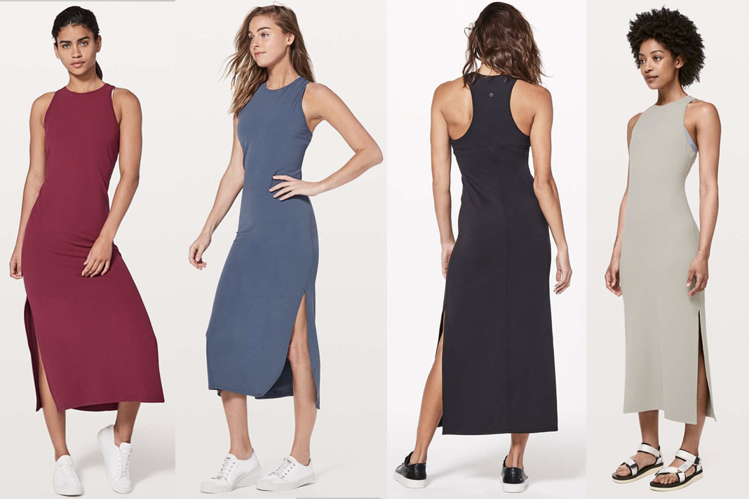 lululemon get going dress maxi high neck racerback