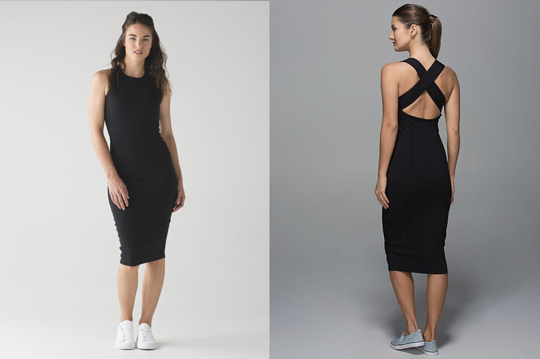lululemon picnic play midi dress cross back
