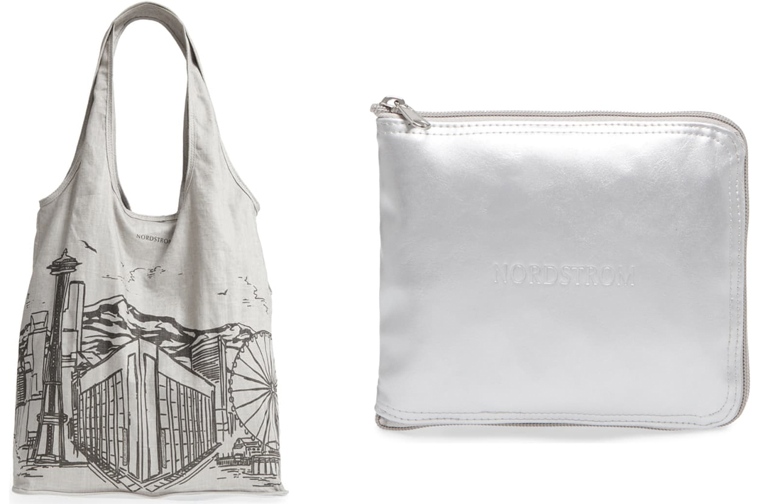 nordstrom seattle skyline foldable cotton tote