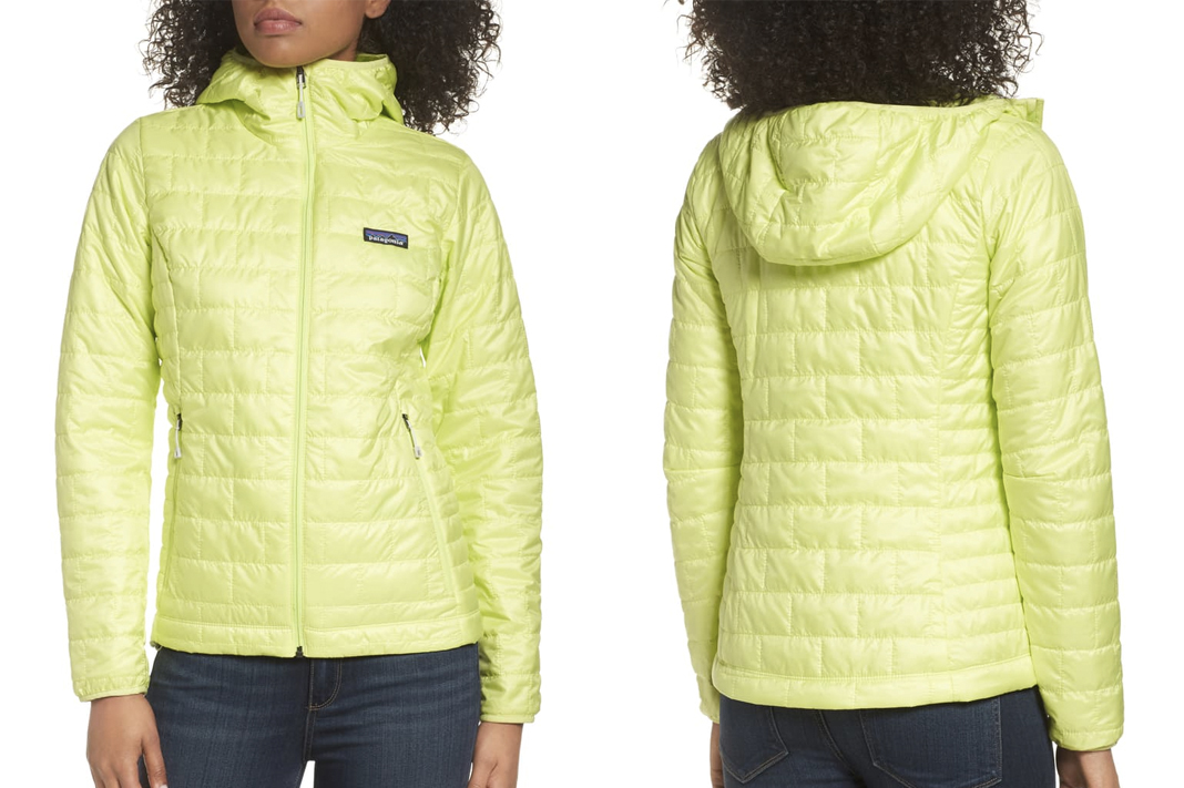 patagonia nano puff jacket hooded lime green yellow nordstrom anniversary sale